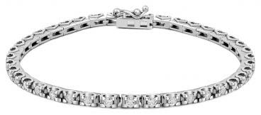 Браслет из белого золота с бриллиантами (012064)