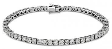 Браслет из белого золота с бриллиантами (009659)