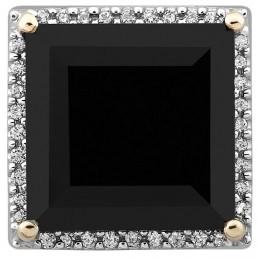 Кулон из комбинированного золота с бриллиантами и гранатом (021421)