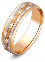 Обручальное кольцо из комбинированного золота (000338)