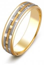 Обручальное кольцо из комбинированного золота (000270)