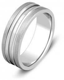 Обручальное кольцо из белого золота (000136)