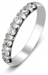 Обручальное кольцо из белого золота с бриллиантами (002915)