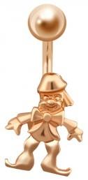 Пирсинг из красного золота (021429)