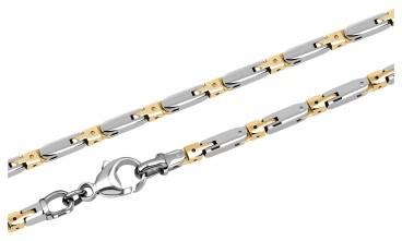 Мужская цепь из палладия с золотыми вставками (002787)