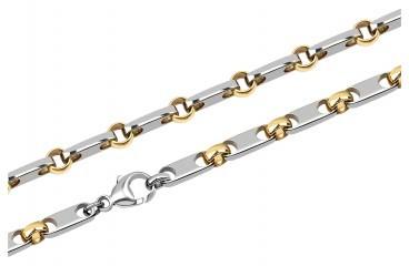 Мужская цепь из палладия с золотыми вставками (002791)