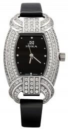 Часы женские из серебра с кристаллами Сваровски кварцевые НИКА (013922)