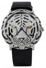 Часы из стали с бриллиантами и сапфирами ROBERTO BRAVO (000889)