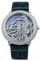 Часы из стали с бриллиантам ROBERTO BRAVO (001055)