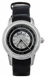 Часы из стали с бриллиантами и сапфирами ROBERTO BRAVO (000892)