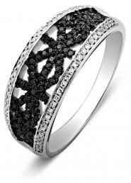 Кольцо из белого золота с бриллиантами (010737)