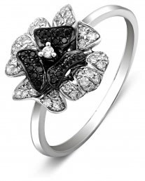 Кольцо из белого золота с бриллиантами (001197)