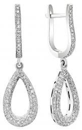 Серьги из белого золота с бриллиантами (001219)