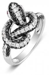 Кольцо из белого золота с бриллиантами (003194)