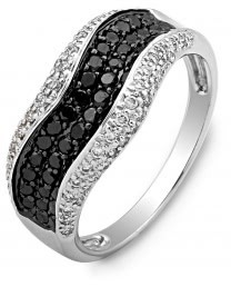 Кольцо из белого золота с бриллиантами (003048)