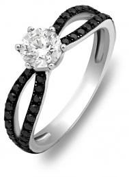 Помолвочное кольцо из белого золота с бриллиантами (007169)
