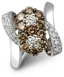 Кольцо из белого золота с бриллиантами (005373)
