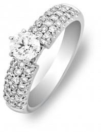 Помолвочное кольцо из белого золота с бриллиантами (010019)