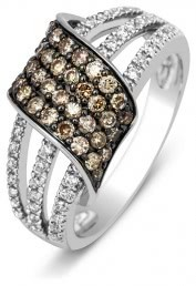 Кольцо из белого золота с бриллиантами (001168)