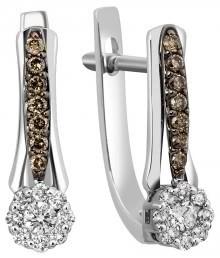 Серьги из белого золота с бриллиантами (001151)