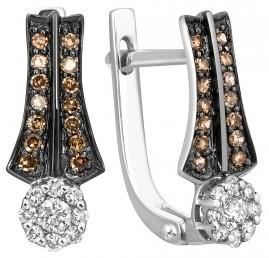 Серьги из белого золота с бриллиантами (001149)
