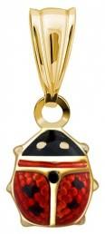 Кулон из желтого золота с эмалью (017772)