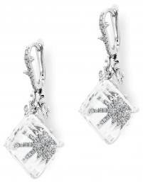 Золотые серьги с бриллиантами (003192)