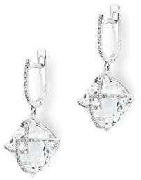 Серьги с бриллиантами из белого золота (003195)