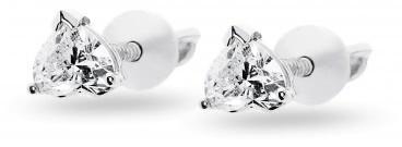 Пусеты с бриллиантами (010665)
