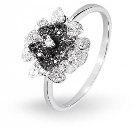 Кольцо Цветок с бриллиантом (001197)