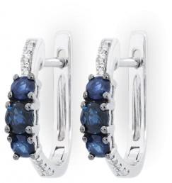 Серьги с бриллиантами и сапфирами (010708)