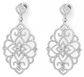 Эксклюзивные серьги бриллиантами (003902)