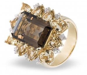 Кольцо с раухтопазом (003614)
