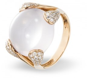 Эксклюзивное кольцо с бриллиантом (012451)