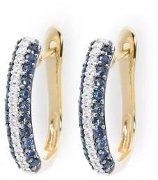 Золотые серьги с сапфирами (012923)