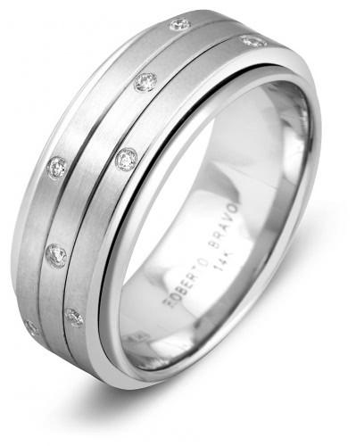 c125f443a16e Обручальное кольцо из белого золота Roberto Bravo 000817   ЗлатоГрад